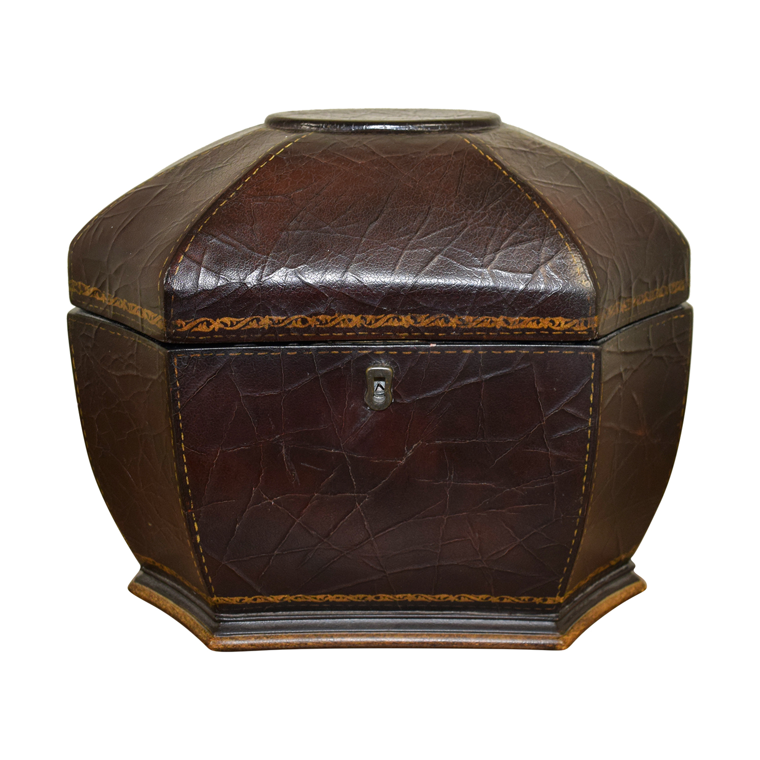 Domain Domain Leather Accent Box with Key on sale