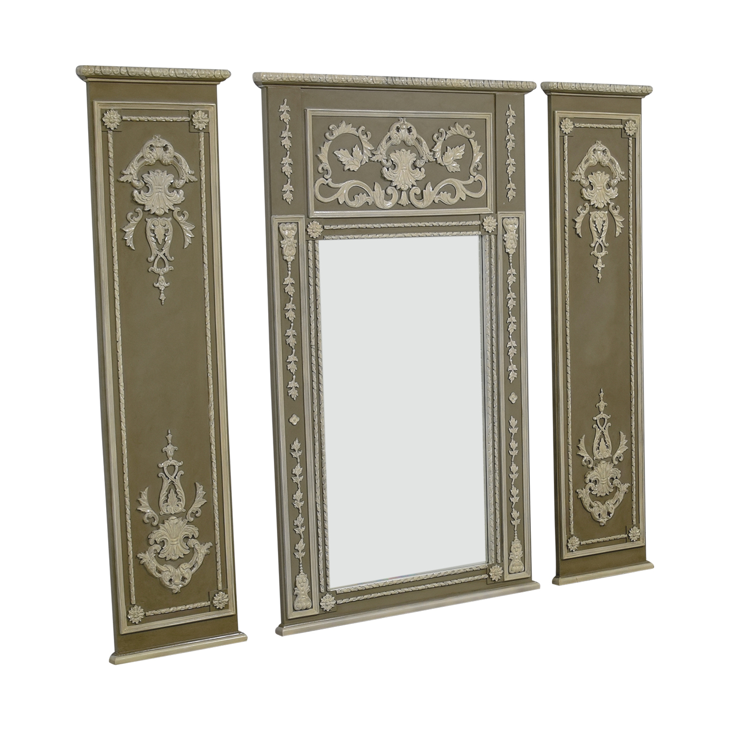 shop Trumeau Wall Mirror with Side Valance Panels