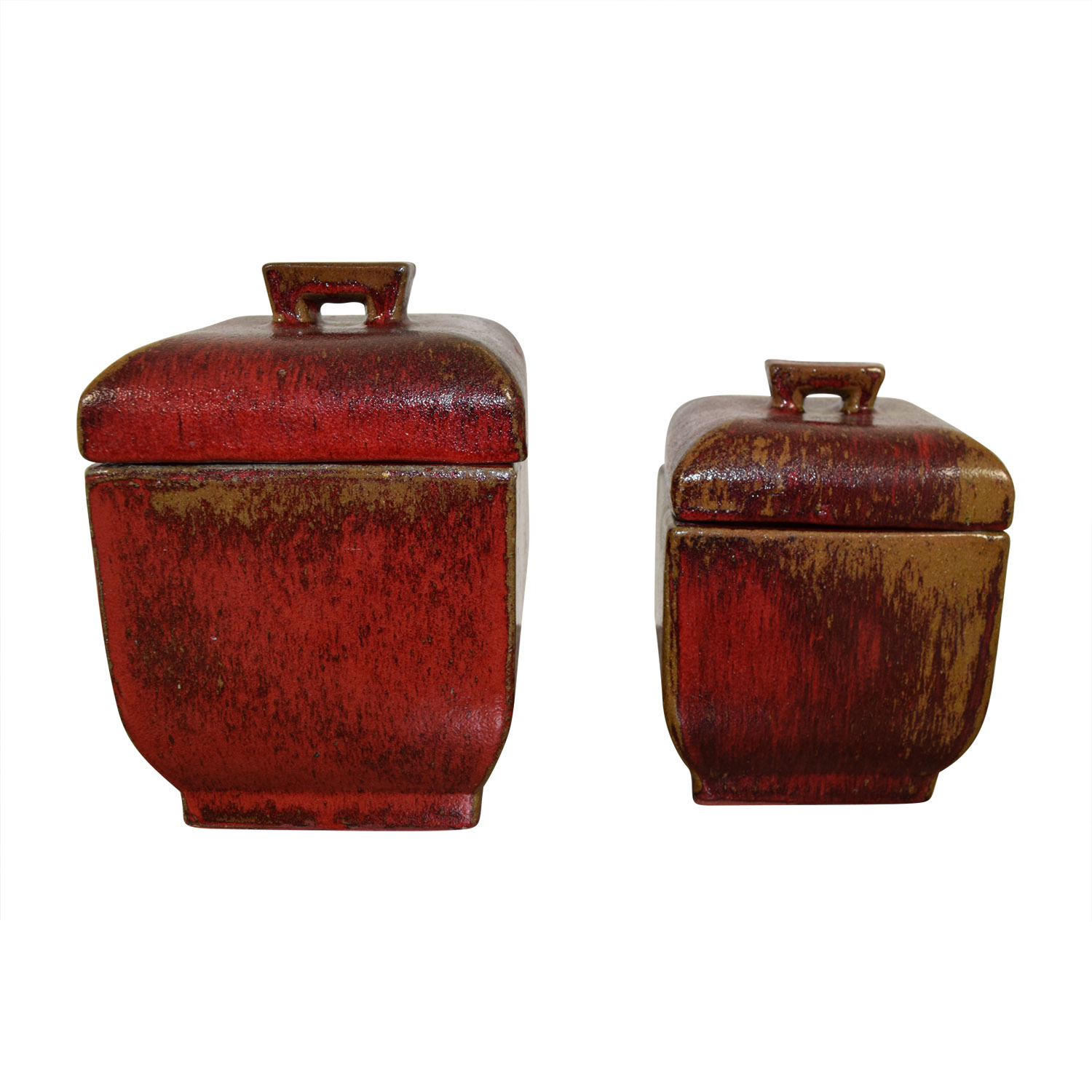 Red Ceramic Canisters dimensions