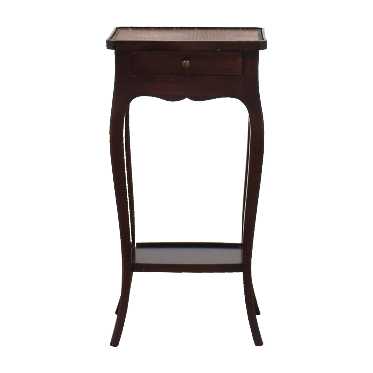 Embossed Crocodile Leather Topped End Table coupon