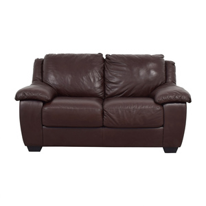 Macy's Macy's Brown Leather Loveseat used