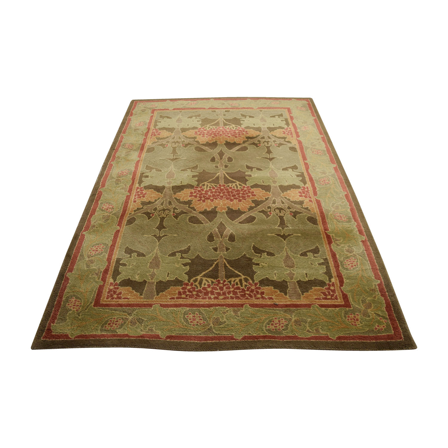 72 Off Pottery Barn Multi Green Rug Wool Decor