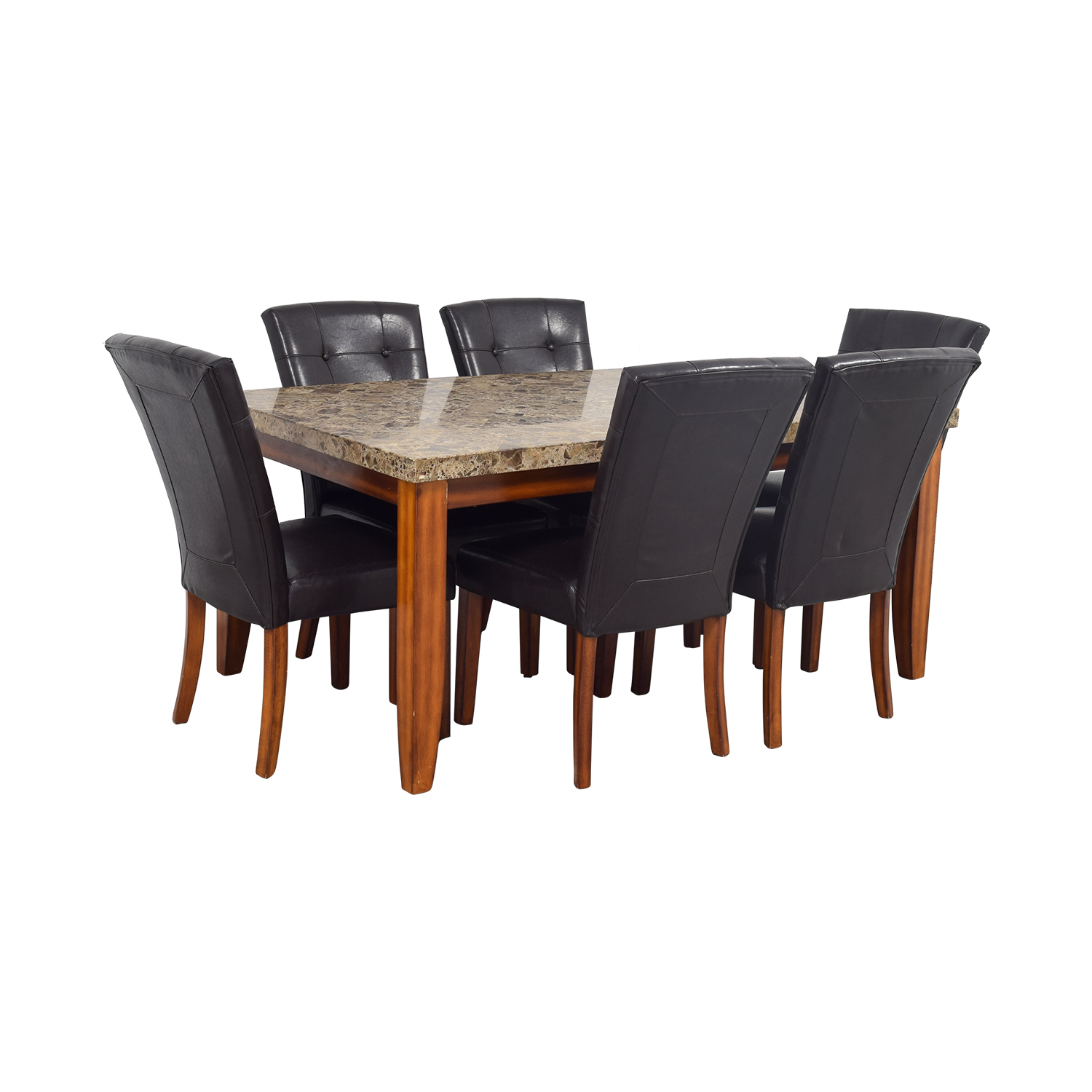 ... Bobs Furniture Bobs Furniture Faux Marble Dining Set Price ...