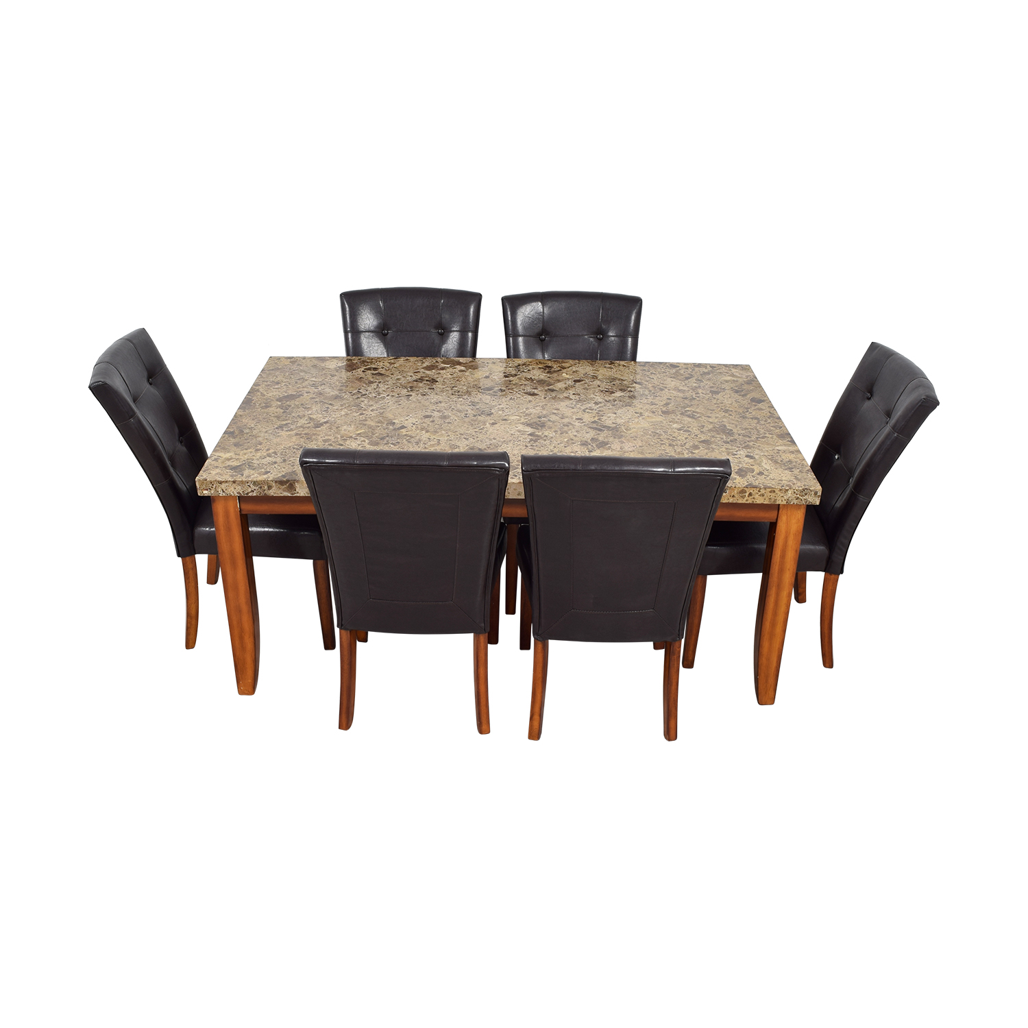 69% OFF - Bob\'s Discount Furniture Bob\'s Furniture Faux Marble Dining Set /  Tables