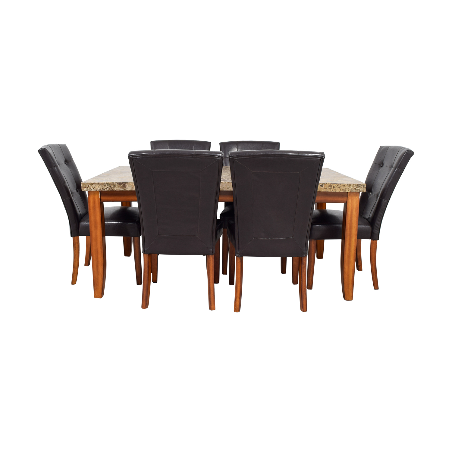 Bobs Furniture Bobs Furniture Faux Marble Dining Set for sale