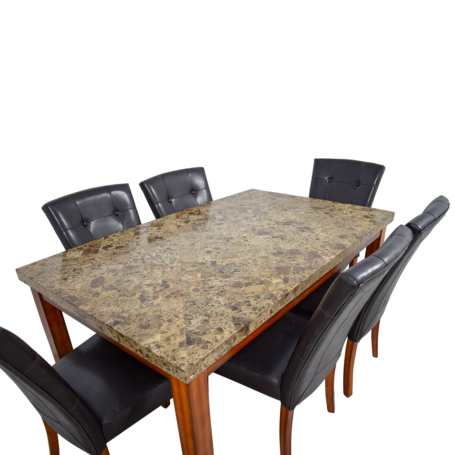 69 Off Bob S Discount Furniture Bob S Furniture Faux Marble Dining Set Tables