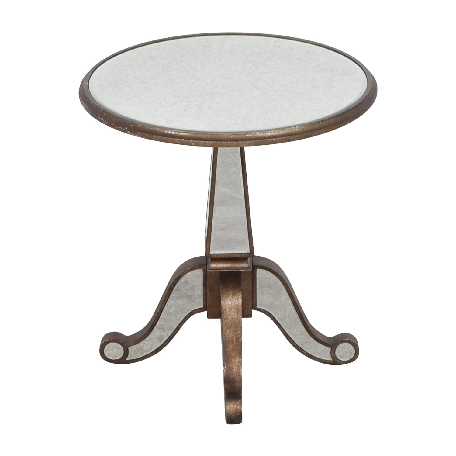Horchow Michelle Round Mirrored Table / Accent Tables