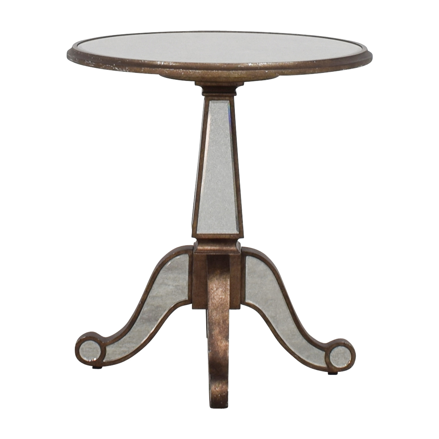 Horchow Horchow Michelle Round Mirrored Table Tables