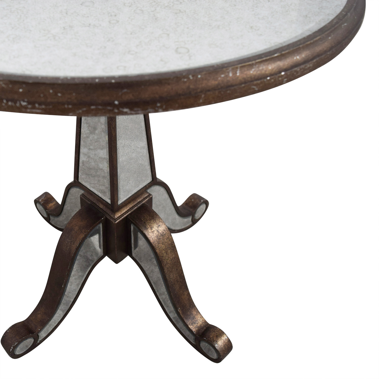 Horchow Horchow Michelle Round Mirrored Table for sale