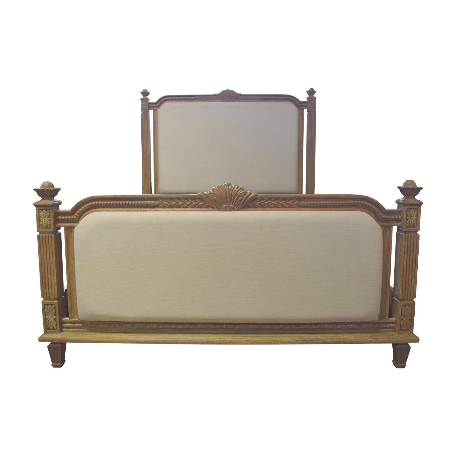 Raymour & Flanigan Raymour & Flanigan Whitmore Beige Queen Bed Frame nyc
