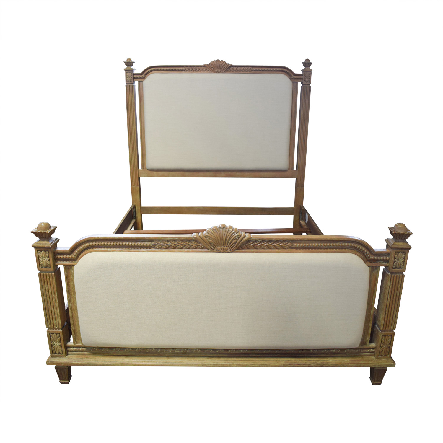 Raymour & Flanigan Whitmore Beige Queen Bed Frame / Bed Frames