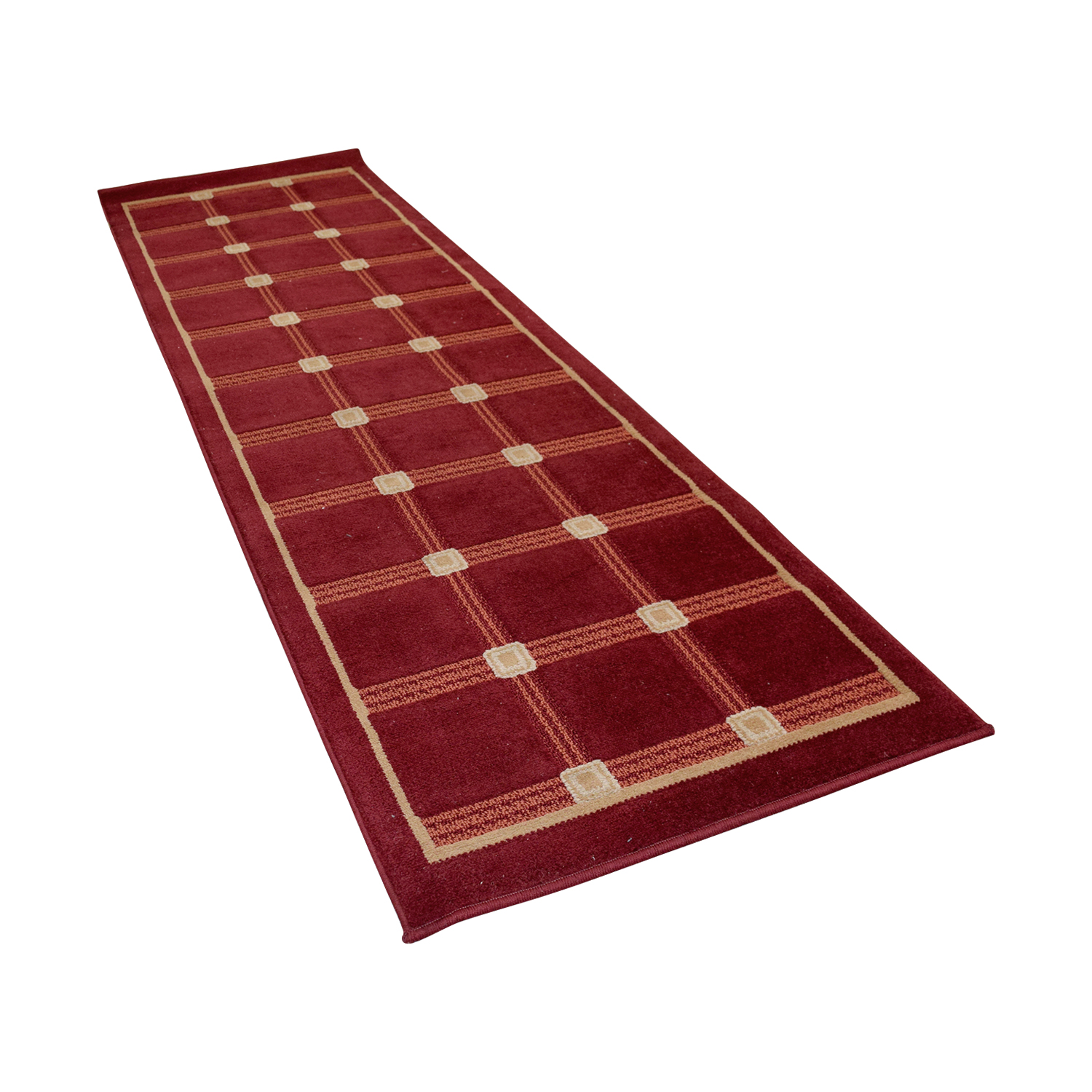 Red and Beige Runner Rug Decor