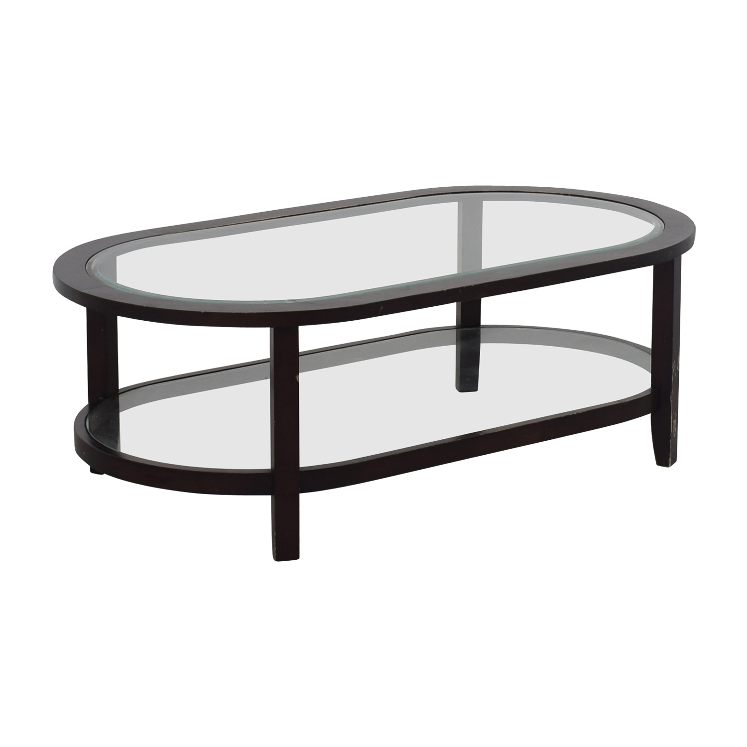 buy Crate & Barrel Crate & Barrel Oval Glass Coffee Table online