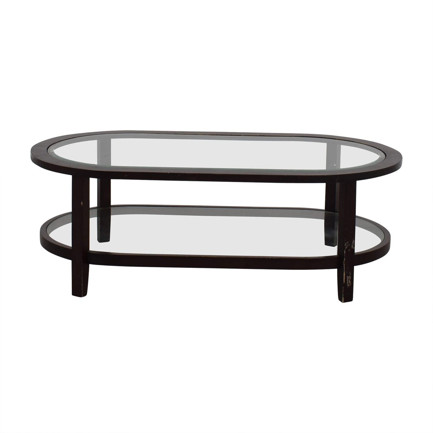 Crate & Barrel Crate & Barrel Oval Glass Coffee Table nyc