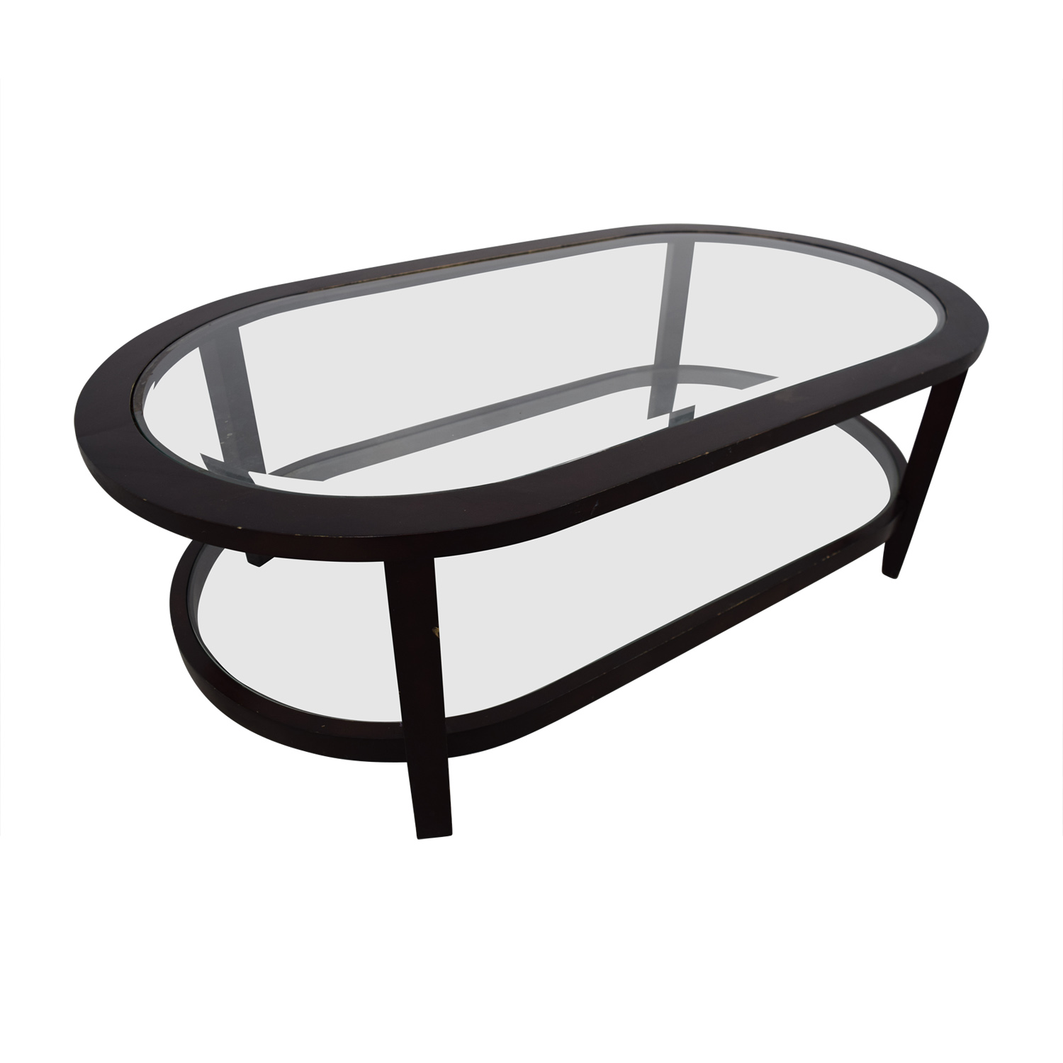 Crate & Barrel Crate & Barrel Oval Glass Coffee Table dimensions