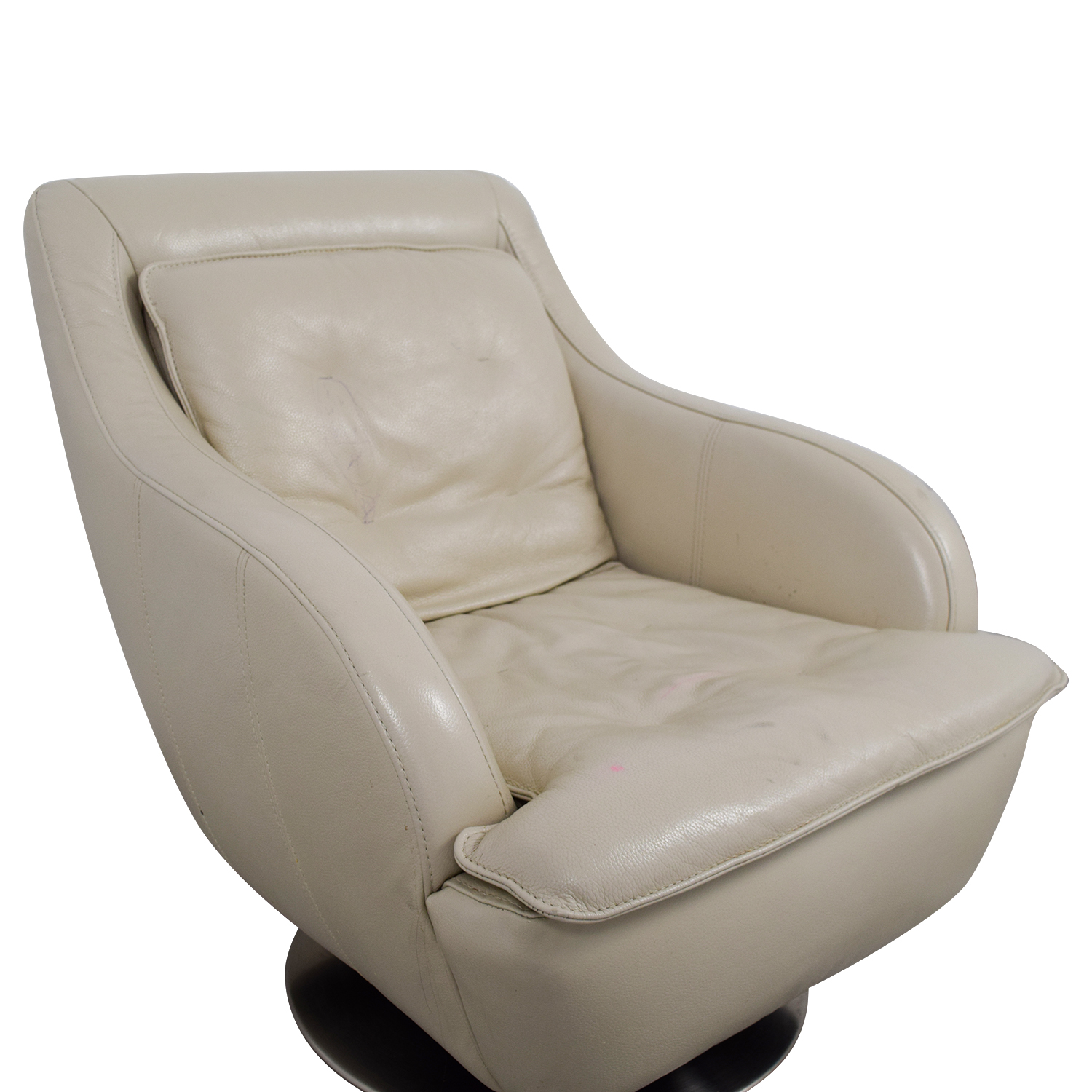 buy Raymour & Flanigan White Leather Accent Chair Raymour & Flanigan Accent Chairs