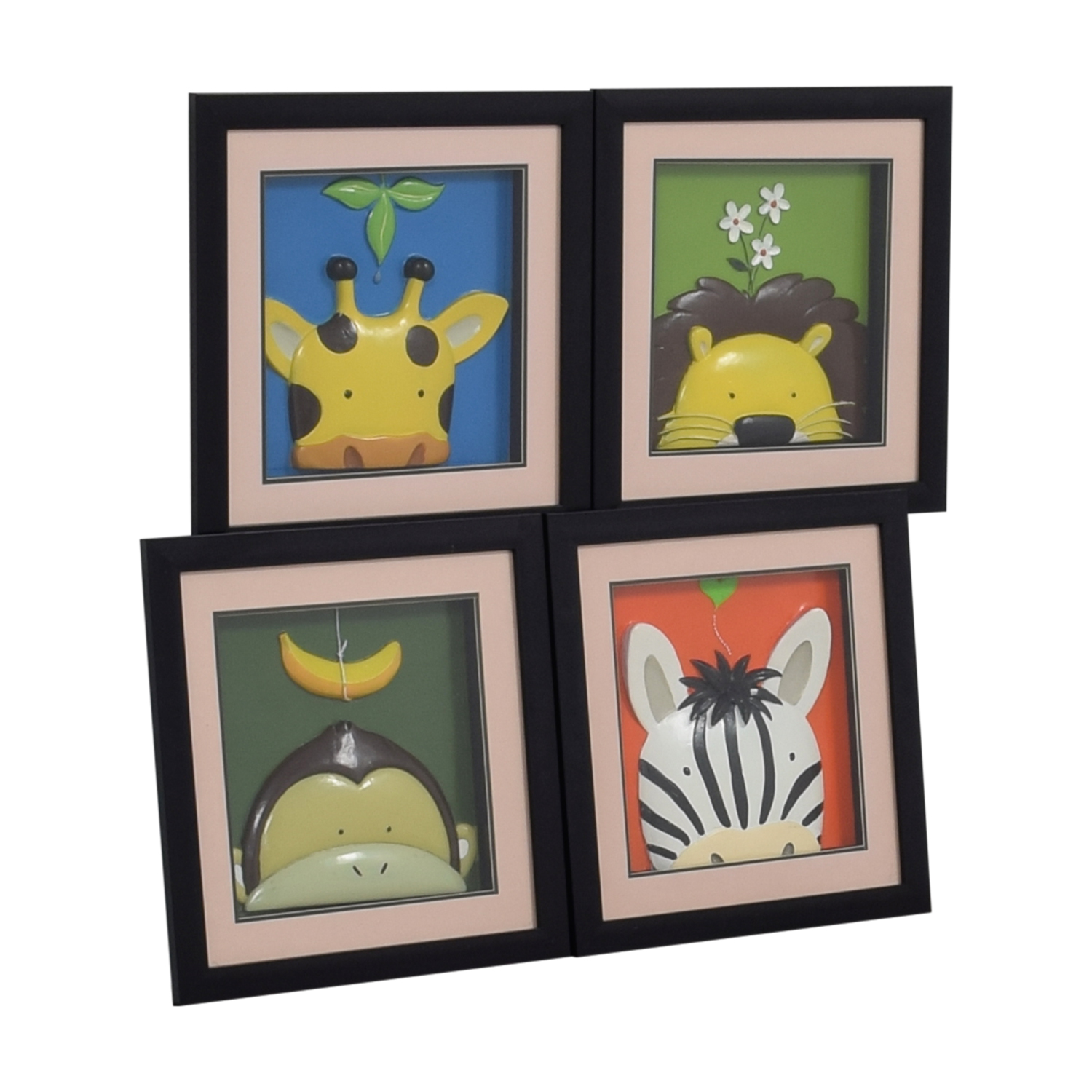 shop Yuko Lau Peek-A-Boo Framed Jungle Animals Yuko Lau Wall Art