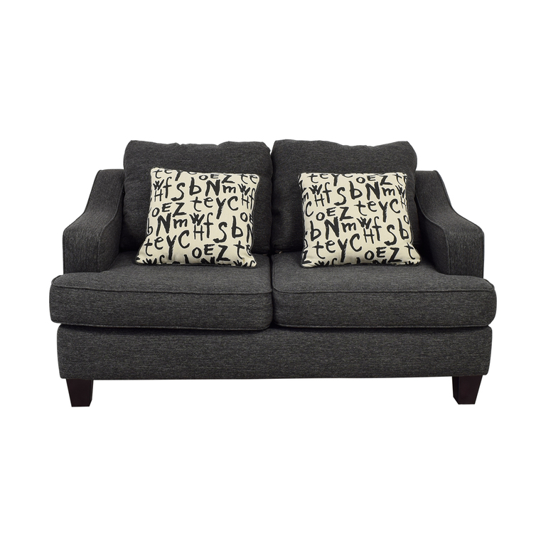 Raymour & Flanigan Union Square Charcoal Loveseat sale
