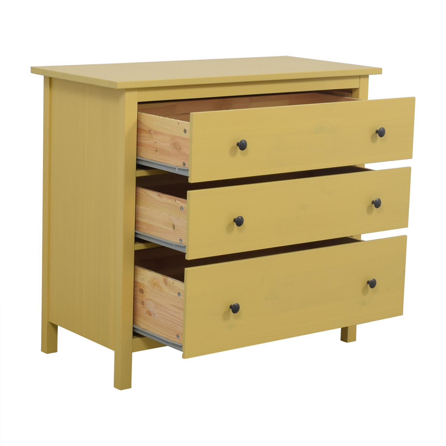 52 off ikea ikea hemnes yellow dresser storage. Black Bedroom Furniture Sets. Home Design Ideas