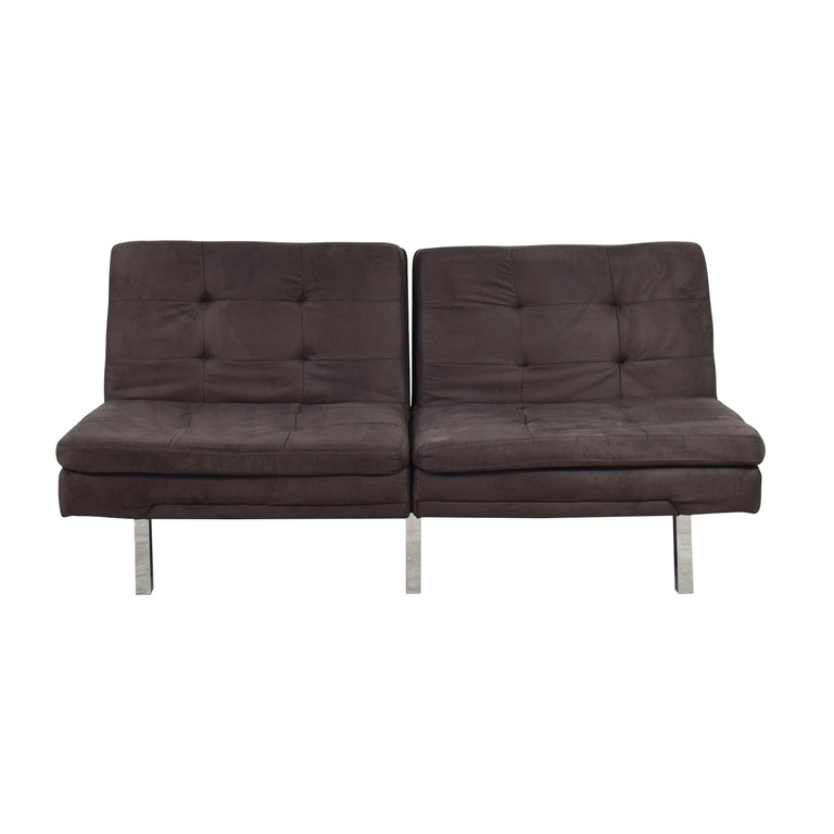 Charcoal Convertible Sofa for sale