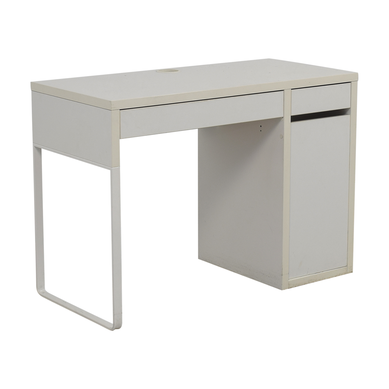 60 Off Two Drawer White Desk With High Rover And