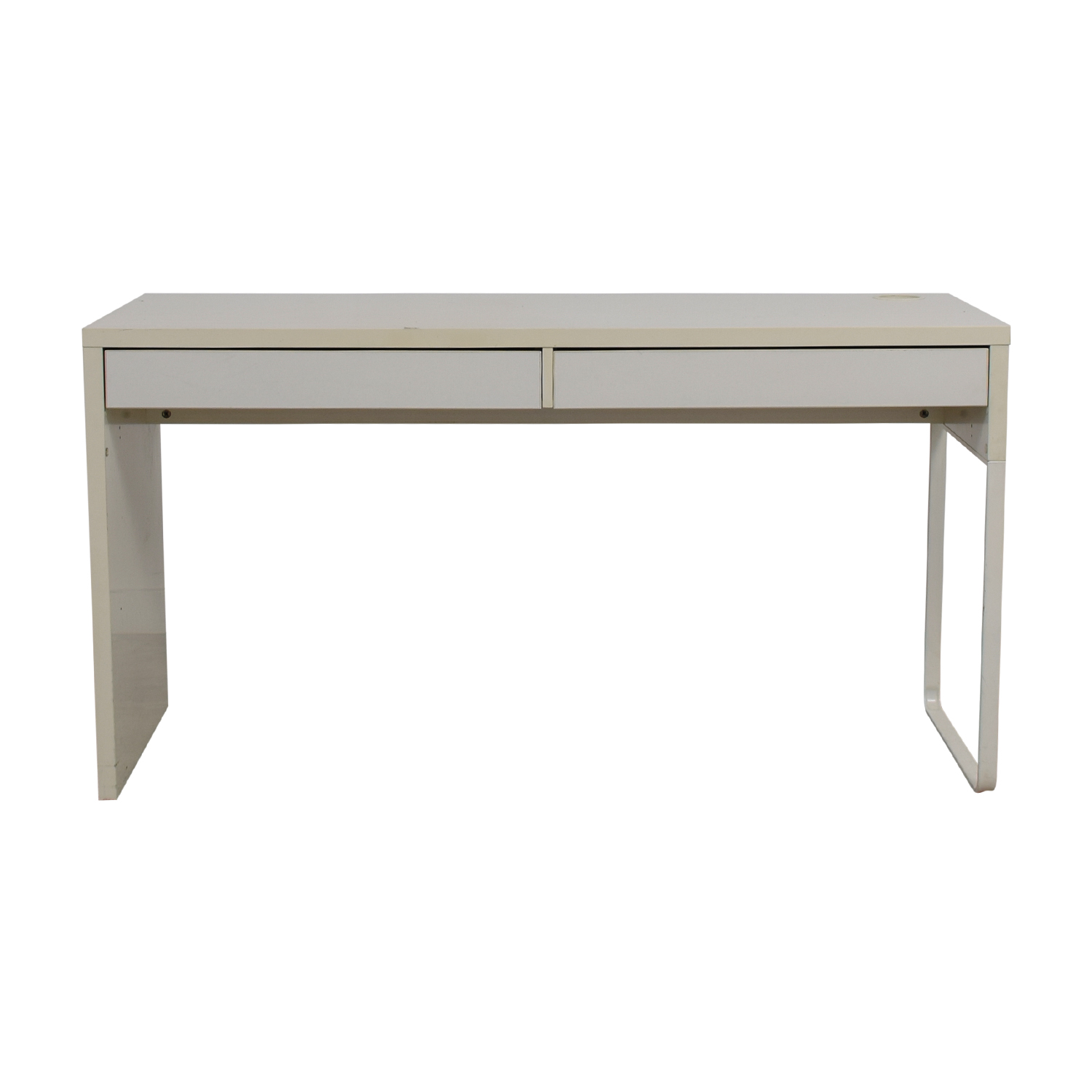 shop Long White Two-Drawer Desk Tables