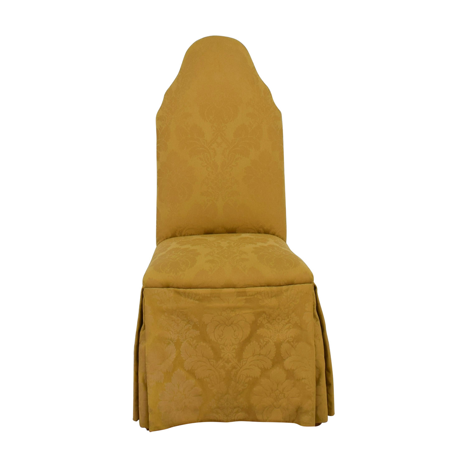 Gold Jacquard Slipcovered Chair