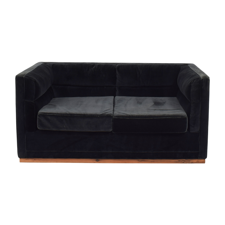shop Organic Modernism Organic Modernism Berlin Dark Green Two-Cushion Sofa online