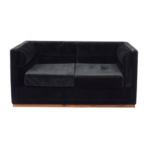 Organic Modernism Organic Modernism Berlin Dark Green Two-Cushion Sofa on sale
