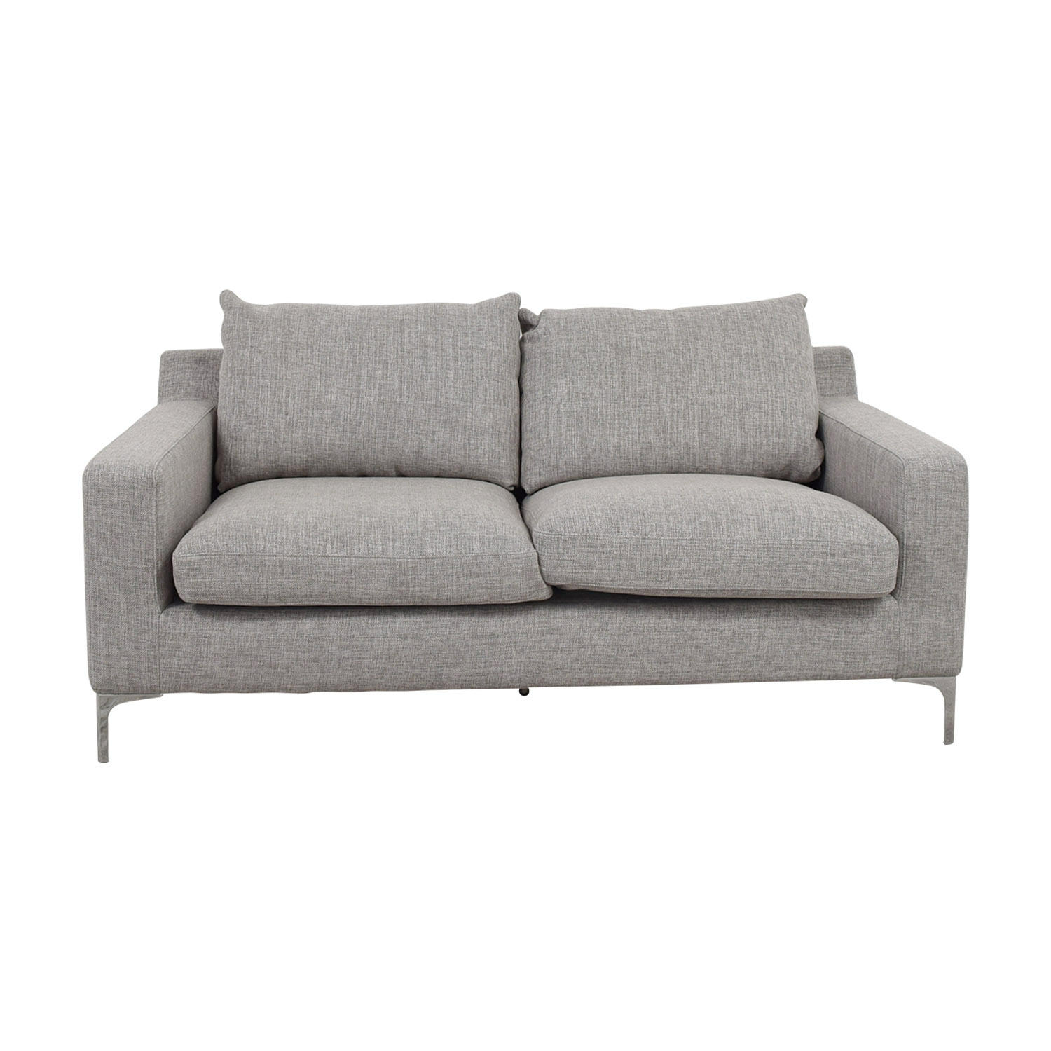 Sloan Grey Two-Cushion Sofa Sofas