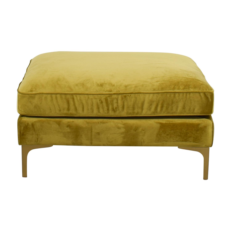 buy Mod Citrine Velvet Ottoman Sofas