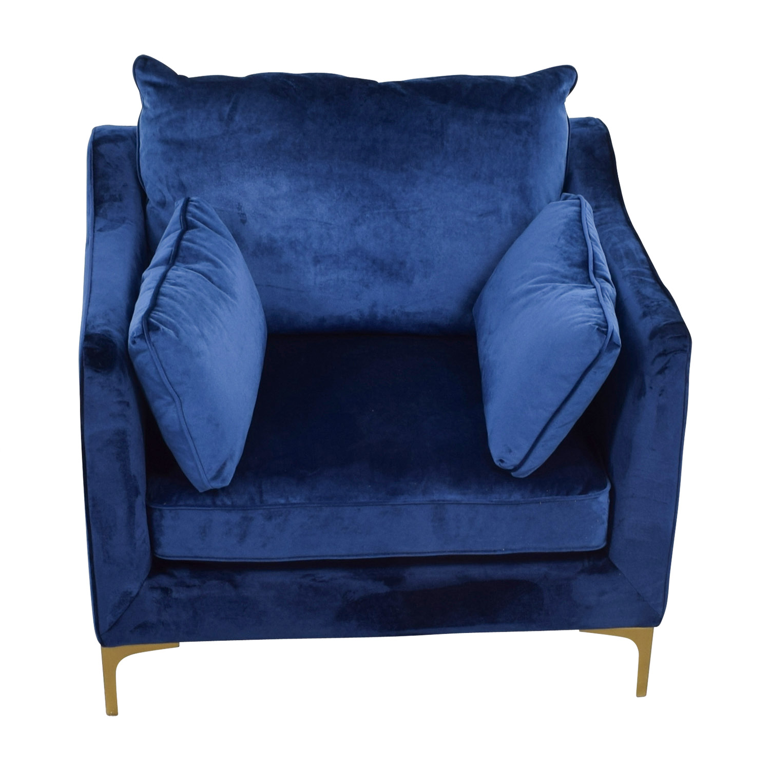 shop Velvet Oxford Blue Accent Chair Chairs