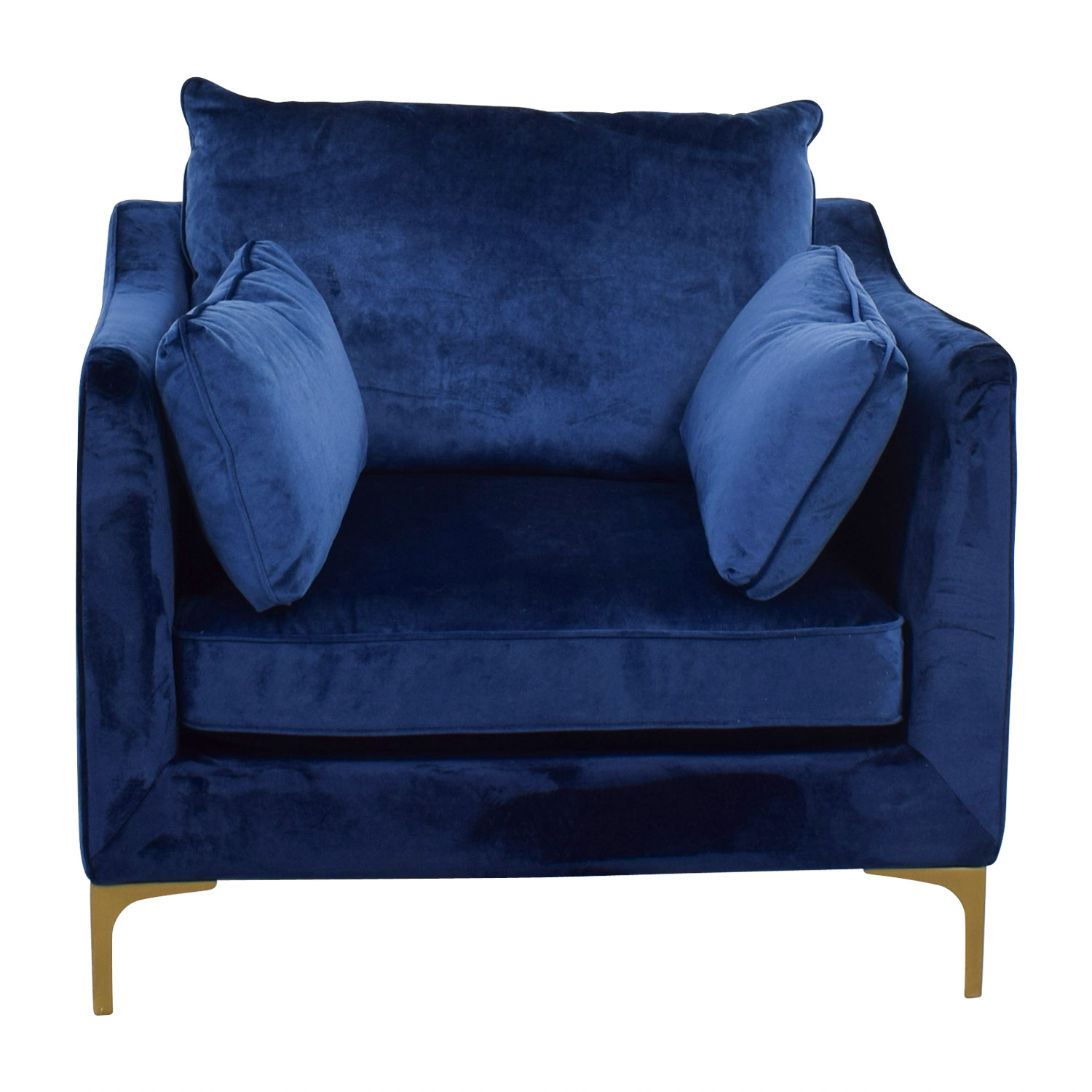 Velvet Oxford Blue Accent Chair nj