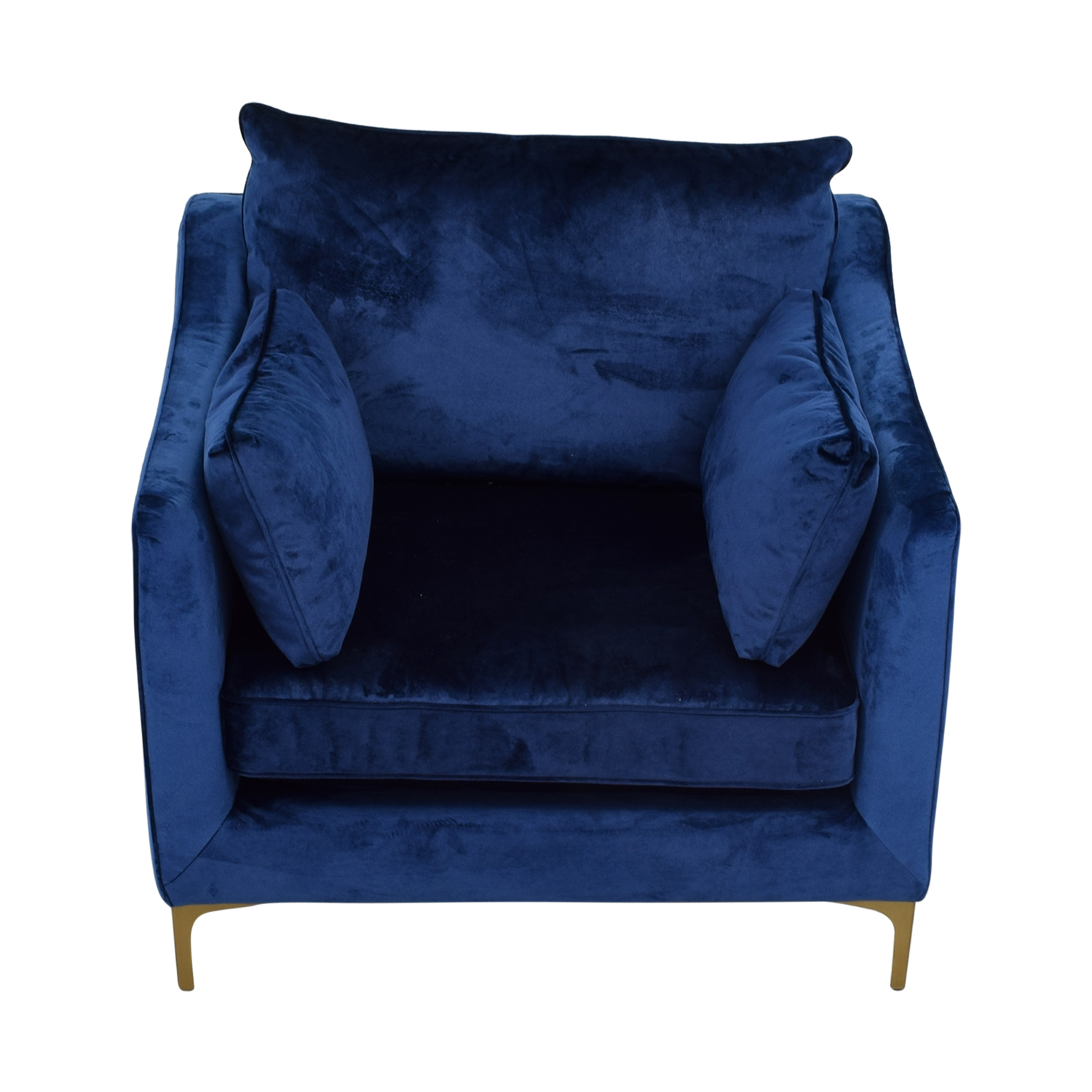 59 Off Mod Velvet Oxford Blue Accent Chair Chairs