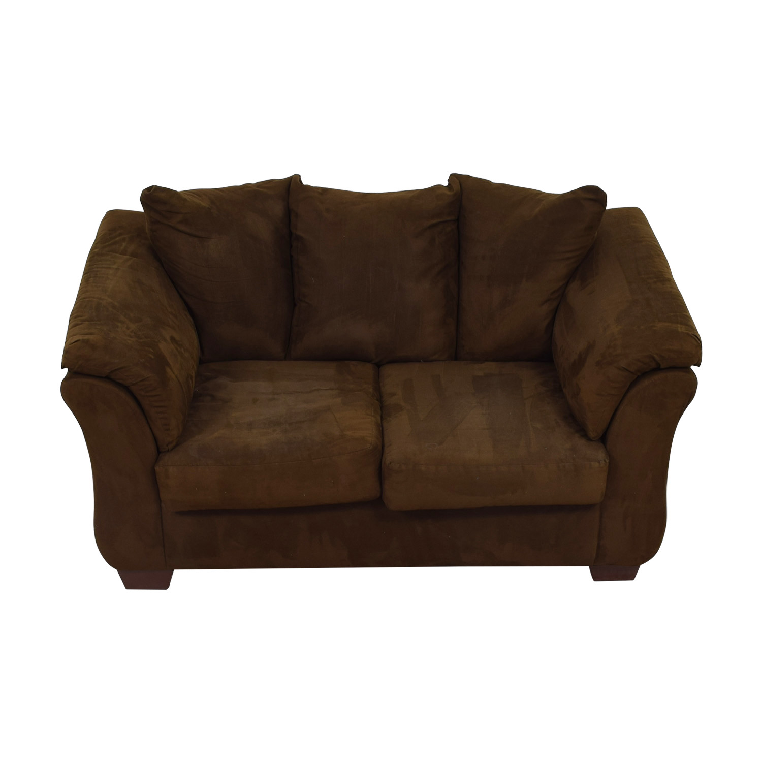 Ashley Furniture Ashley Furniture Two- Cushion Brown Loveseat nyc