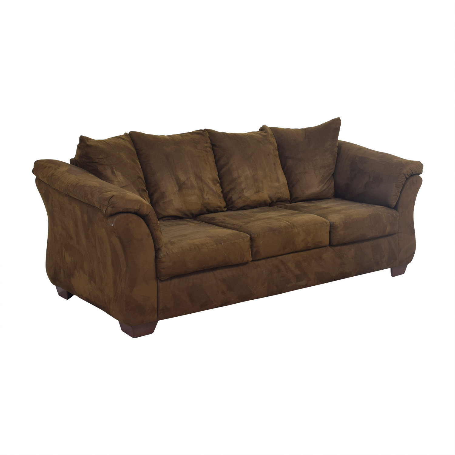 OFF Ashley Furniture Ashley Furniture Three Cushion Brown