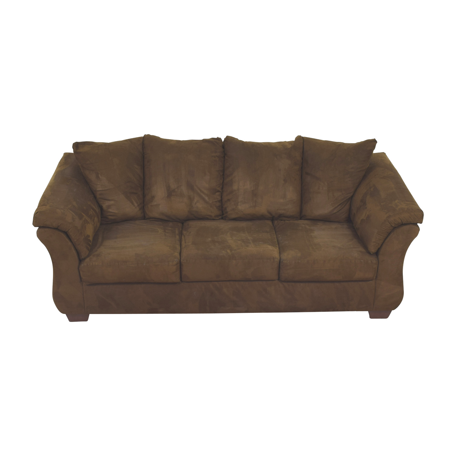 buy Ashley Furniture Three-Cushion Brown Couch Ashley Furniture