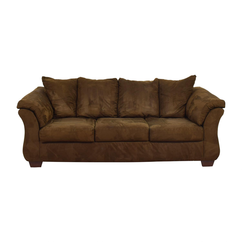 Ashley Furniture Ashley Furniture Three-Cushion Brown Couch brown