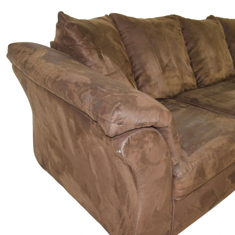 buy Ashley Furniture Three-Cushion Brown Couch Ashley Furniture Sofas