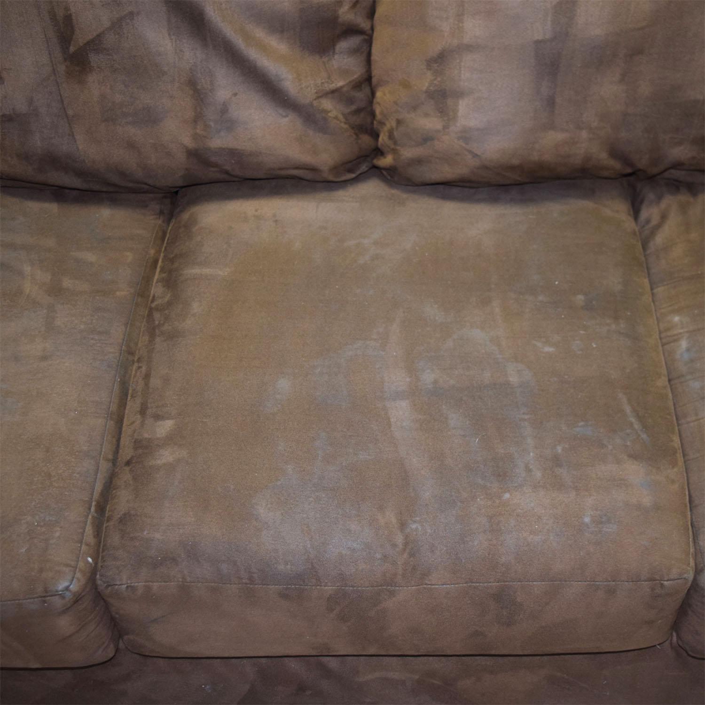 buy Ashley Furniture Three-Cushion Brown Couch Ashley Furniture Classic Sofas