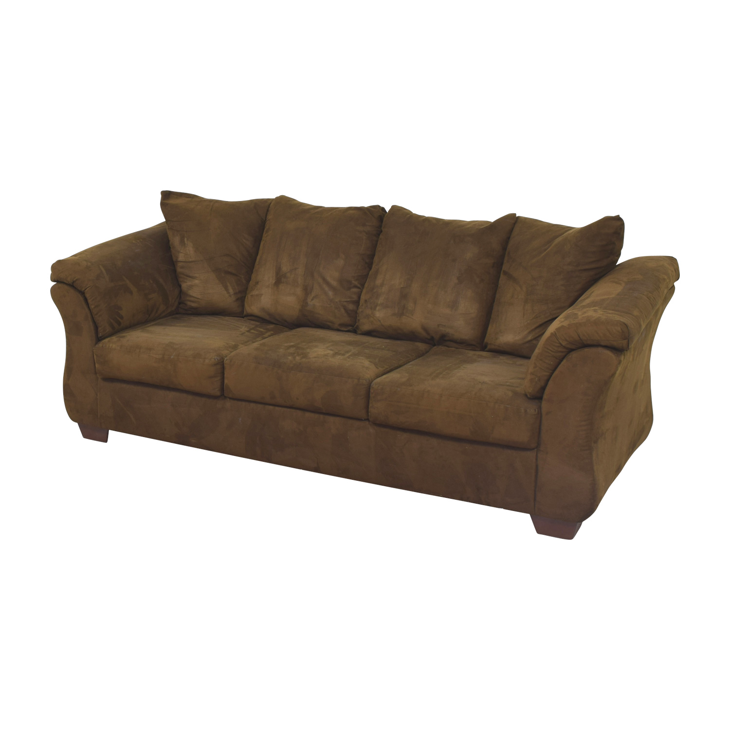 Ashley Furniture Ashley Furniture Three-Cushion Brown Couch second hand
