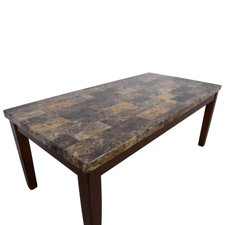 Marble Coffee Table Leather Sofa: Ashley Furniture Ashley Furniture Faux Marble