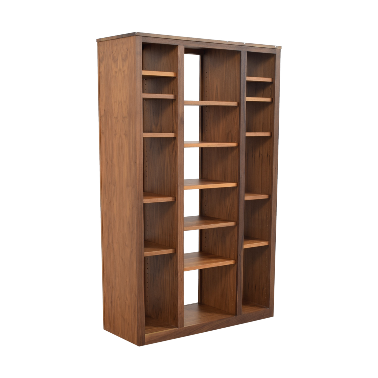 Room and Board Room and Board Woodwind Walnut Double Open-Back Bookcase Bookcases & Shelving