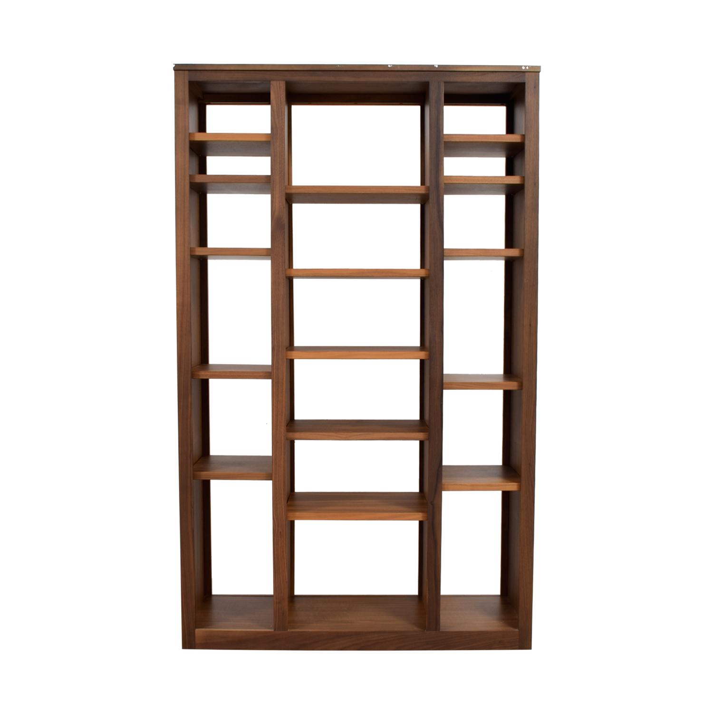 56 Off Room Board Room And Board Woodwind Walnut Double Open Back Bookcase Storage