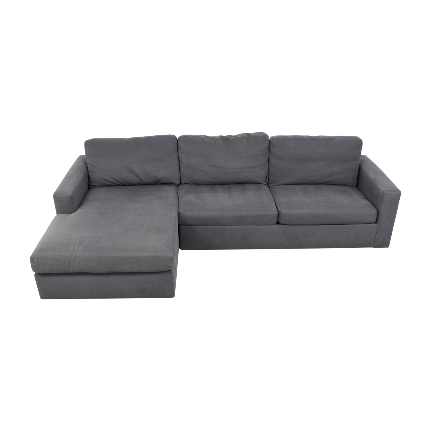 Room & Board Room & Board Taft Custom Grey Left Arm Chaise Sectional Sectionals