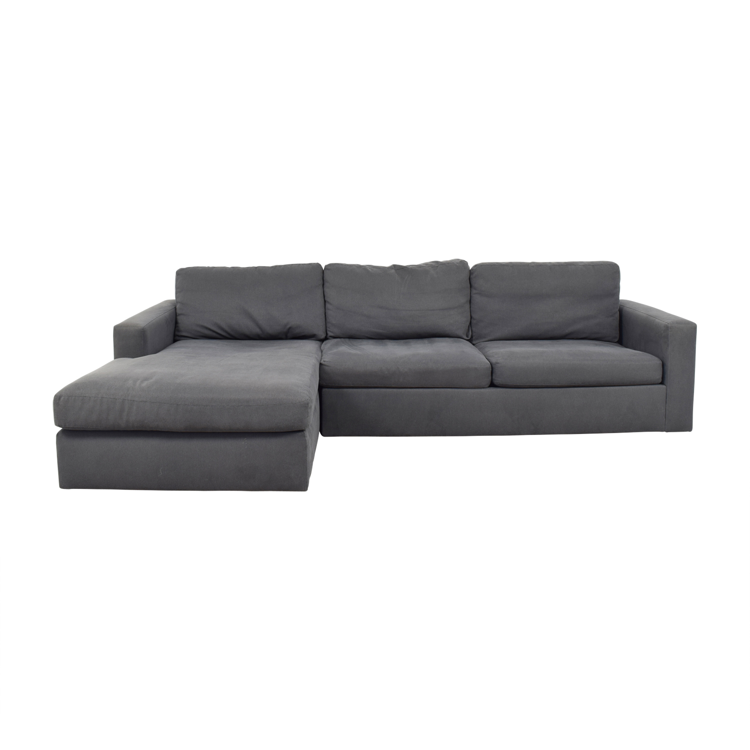 buy Room & Board Taft Custom Grey Left Arm Chaise Sectional Room & Board