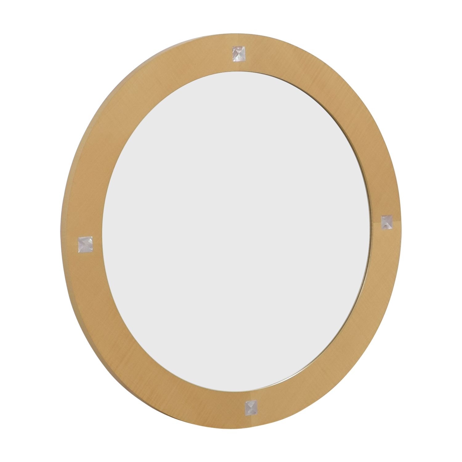 Round Natural Wood Wall Mirror coupon