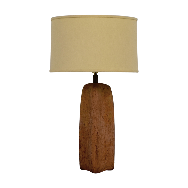 Antique Stone Table Lamp / Decor