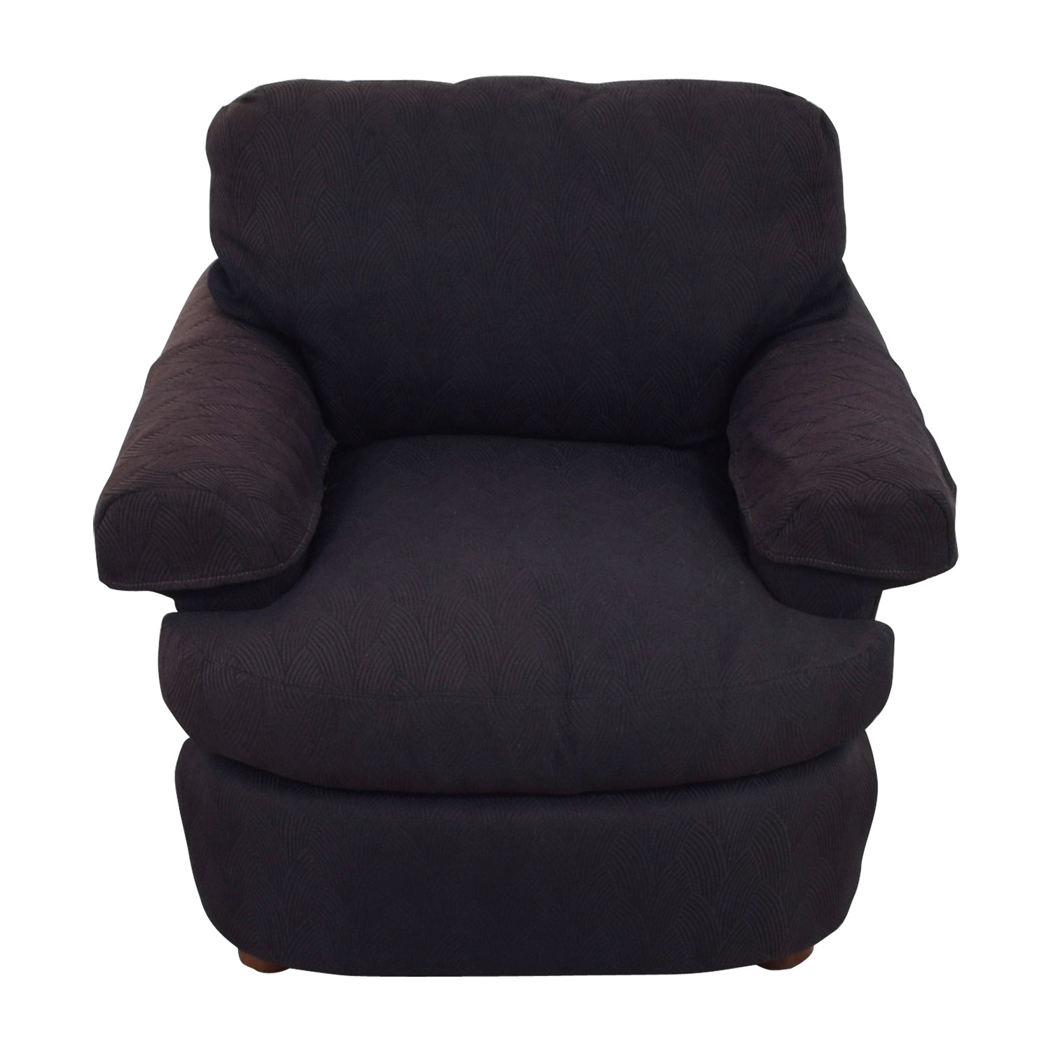 Dark Brown Felt Accent Chair second hand