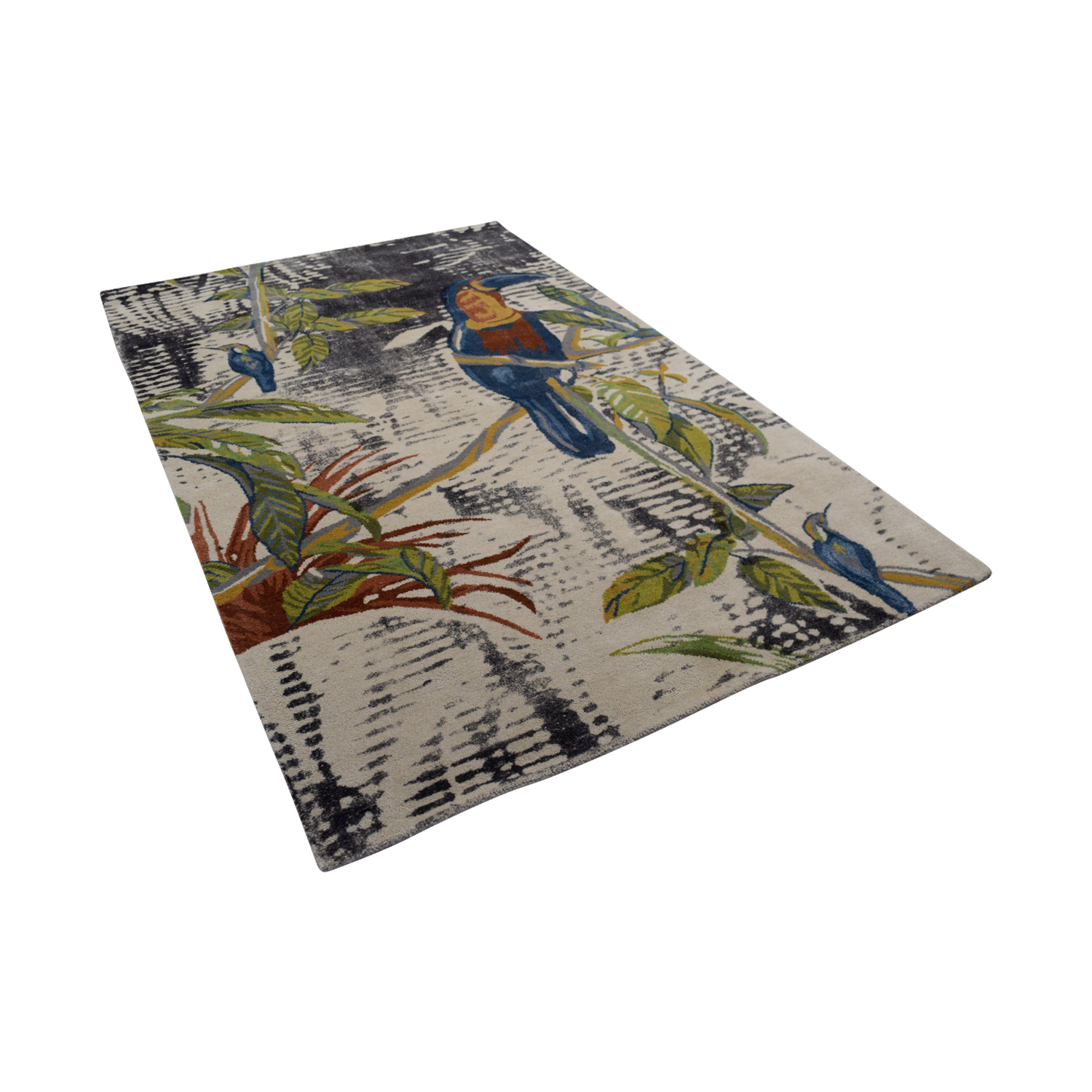 shop Obeetee Obeetee Flatweave Multi-Colored Parrot Wool Rug online